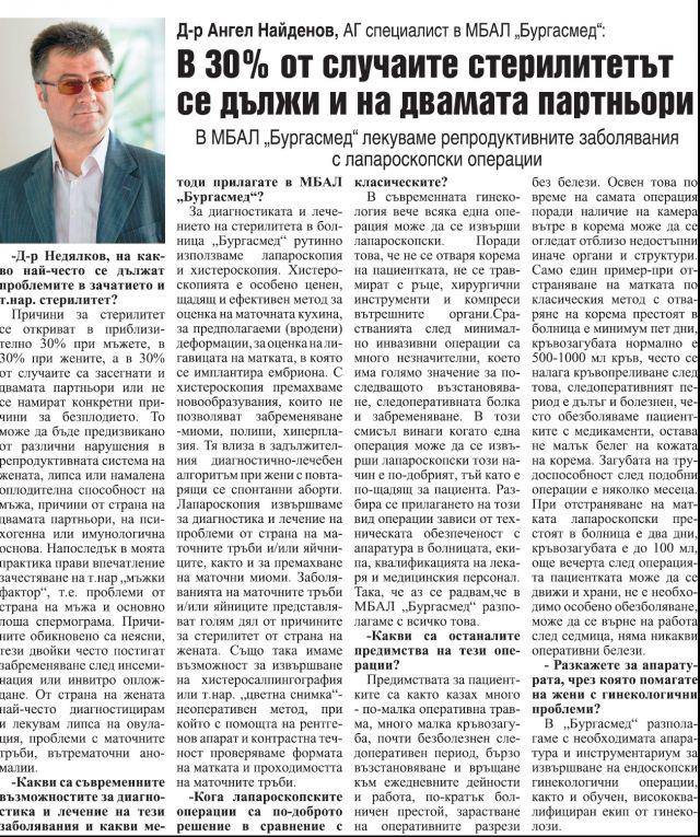 """Болница """"Бургасмед"""" открива модерно кардиологично отделение"""